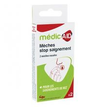 Mèches nasales stop saignement - MédicAID