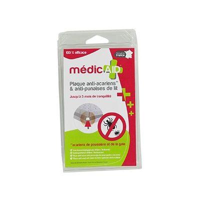 Plaque anti acariens et anti punaises de lit, MédicAID